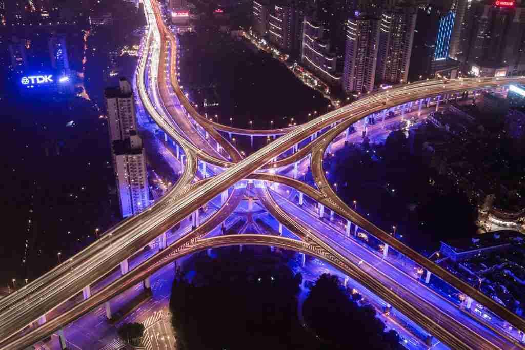 converging highways denoting career pathing